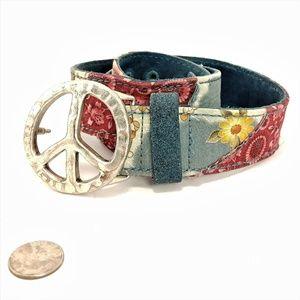 "Lucky Brand Burur422 ""Pease"" Floral XL Belt"